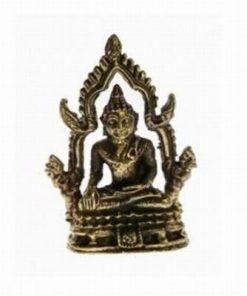 Buddha pe tron - Tailanda - ministatuie din alama