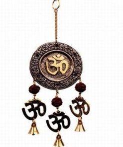 Clopotel Feng Shui cu Rudraksha si simbolul Tao/Om