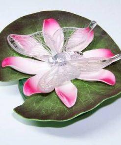 Floare de Lotus cu fluture - luminata cu led