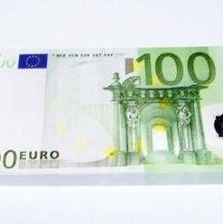 Blocknotes cu model de bancnote de 100 de Euro
