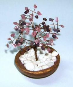 Copacel Feng Shui cu cristale de cuart roz si ametist
