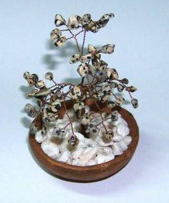 Copacel Feng Shui cu cristale de jasp dalmatian