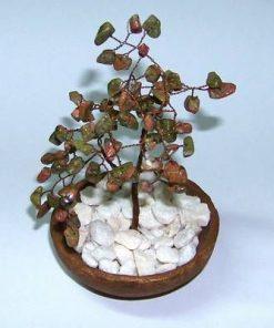 Copacel Feng Shui cu cristale de epidot/unakit