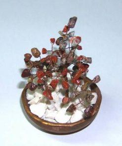 Copacel Feng Shui cu cristale de jasp oceanic si carneol