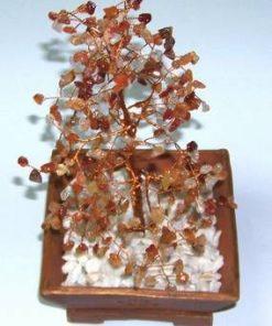 Copacel Feng Shui cu cristale de agat si calcedonie
