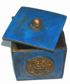 Cubul / Vasul bogatiei din ceramica, cu capac - Apa