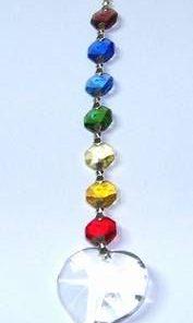 Clopotel Feng Shui, din cristale multifatetate - Inima