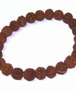 Bratara din Rudraksha, pe elastic, unisex