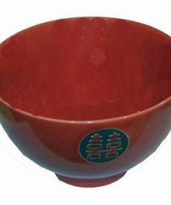 Bol Feng Shui din ceramica cu Simbolul Dublei Fericiri