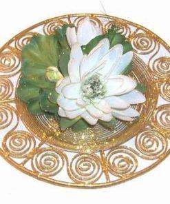 Decor Feng Shui auriu cu Lotus alb