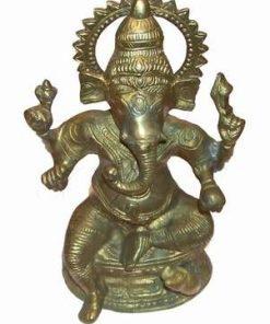 Statueta vintage din metal - Ganesh - XL