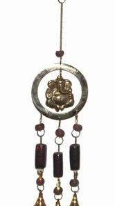 Clopotel Feng Shui din alama cu Ganesh