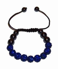 Bratara Shambala cu sfere albastre - pentru sanatate