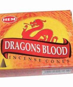 Set de 10 conuri parfumate - Sangele Dragonului