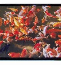Tablou Feng Shui cu 88 pesti aurii, stilizat