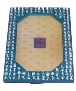 Tablou Feng Shui din lemn - turcoaz - pentru casa