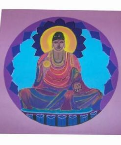 Mandala cu Buddha Tamaduitorul - pictata manual