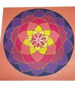 Mandala bogatiei absolute - pictata manual
