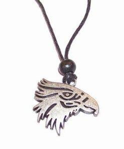 Talisman Feng Shui pe siret negru reglabil - Vultur