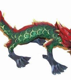 Dragon din rasina, pictat manual