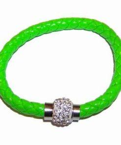 Bratara din piele verde cu sfera Shambala