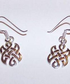 Nod mistic stilizat din argint - cercei