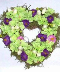 Aranjament Feng Shui cu orhidee verzi si flori de bujor