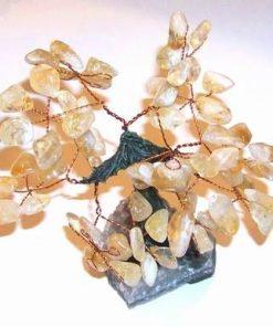 Copacel Feng Shui din citrin pe suport ametist - mare