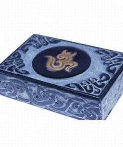 Casetuta din onix cu simbolul Tao/Om din alama