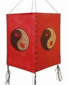 Lampadar Feng Shui de culoare rosie - Yin-Yang