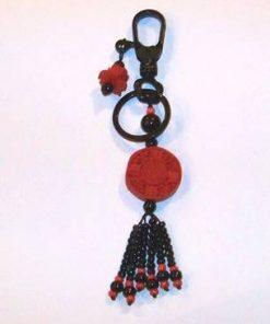 Breloc cu ideograma norocului, simbolul sanatatii si Lotus