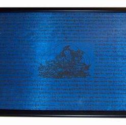 Tablou Feng Shui cu Tara si mantre de protectie - albastru
