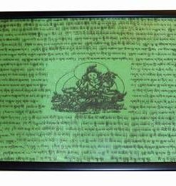 Tablou Feng Shui cu Tara si mantre de protectie - verde