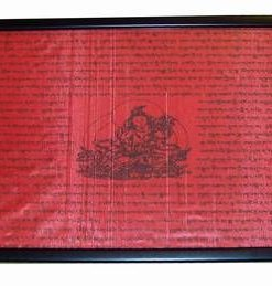 Tablou Feng Shui cu Tara si mantre de protectie - rosu