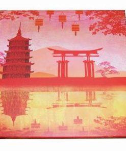 Tablou Feng Shui pe canvas cu pagoda celor 6 nivele