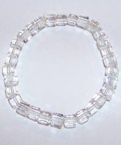Bratara din cristale patrate, pe elastic