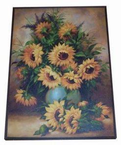 Tablou Feng Shui cu floarea soarelui - XXL