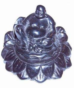 Buddha cu sacul abundentei pe floare de Lotus