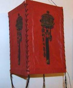 Lampadar Feng Shui de culoare rosie cu morisca
