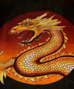Fata de masa Feng Shui cu Dragonul Fericirii