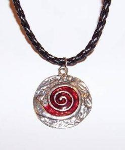 Pandantiv cu spirala Reiki - rosu