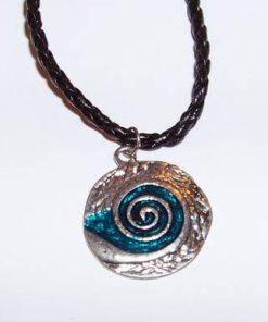 Pandantiv cu spirala Reiki - albastru