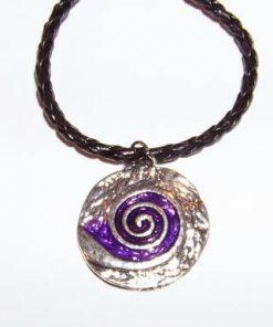 Pandantiv cu spirala Reiki - mov