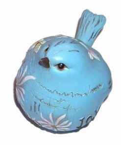 Pasarea Fericirii din ceramica - bleu