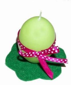 Aranjament de Pasti - lumanare in forma de ou - verde