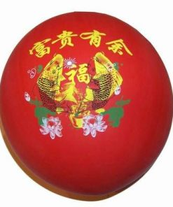 Balon rosu cu simboluri de bun augur - XXL