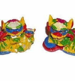Pereche de Pi Xie colorati
