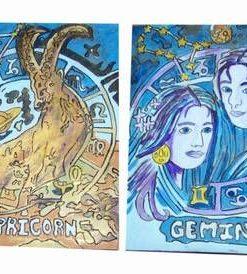 Set de 12 zodii europene lucrate manual