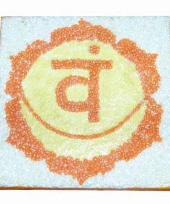 Tablou lucrat manual cu chakra Svadisthana