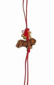 Canaf Feng Shui cu nod mistic multicolor si zodia Tigru